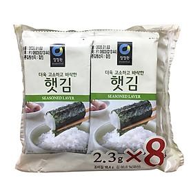 Bịch 8 Gói Lá Kim Ăn Liền Hàn Quốc Heat Basak Daesang 2.3 Gram x 8