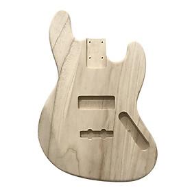 Polished Wood Type Electric Guitar Barrel DIY Electric Maple Guitar Barrel Body For JB Style Bass Guitar - Maple