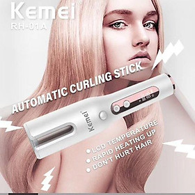 Máy uốn tóc tự động 6 mức điều chỉnh nhiệt độ cao cấp KEMEI RH 01A dùng pin sạc
