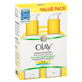 Olay Complete Defence SPF 30+ Sensitive 75ml Twin Pack