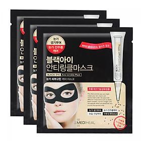 Combo 3 Mặt nạ xóa nếp nhăn, mờ quầng thâm mắt Mediheal Black Eye Anti Wrinkle Mask 10mlx3