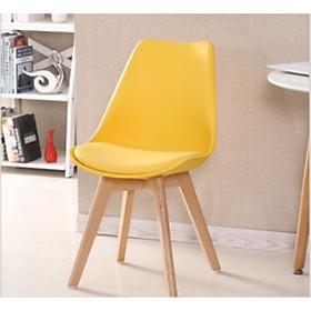 Ghế chân gỗ mặt nhựa