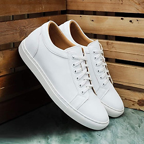 Giày Sneaker Thể Thao Nam Da Bò UDANY - GBD06 - Màu Trắng