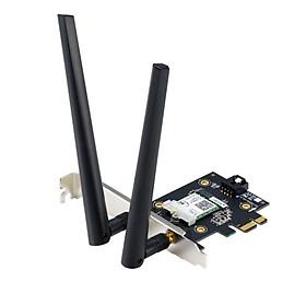 Card Mạng Không Dây Wifi Asus PCE-AX3000 (Tray Không Hộp)  WiFi 6 (802.11ax) Băng Tần Kép Bluetooth 5.0 Bảo Mật Mạng WPA3 OFDMA MU-MIMO - Hàng Chính Hãng