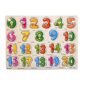 Bảng núm gỗ 23x30 cm lắp ghép hình giáo dục nhiều chủ đề cho bé