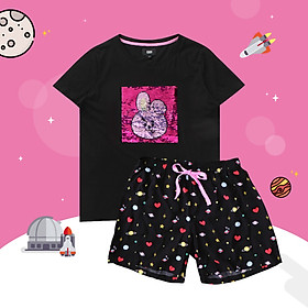 BT21 x HUNT Spangle Pajama Set Cooky HILO91101T