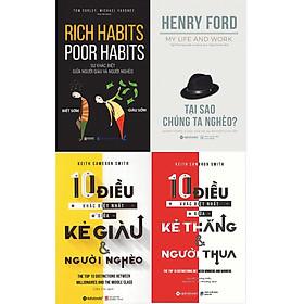 Combo Bí Mật Của Người Giàu - Làm Sao Để Giàu Có Và Thành Đạt ( Rich Habits - Poor Habits: Sự Khác Biệt Giữa Người Giàu Và Người Nghèo + Tại Sao Chúng Ta Nghèo? + 10 Điều Khác Biệt Nhất Giữa Kẻ Giàu Và Người Nghèo + 10 Điều Khác Biệt Nhất Giữa Kẻ Thắng Và Người Thua ) tặng kèm bookmark Sáng Tạo