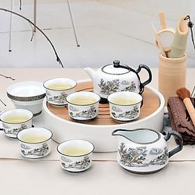 Hình đại diện sản phẩm Bộ Ấm Và Tách Uống Trà Sứ Haofeng