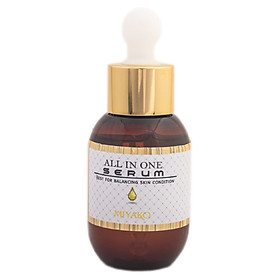 Hình đại diện sản phẩm Serum Tinh Chất Dưỡng Trắng Da và Ngăn Ngừa Lão Hóa - MIYAKO All In One Serum 50ml