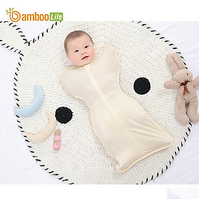 Nhộng chũn Quấn chũn sợi tre Bamboo Life BL069 hàng chính hãng cho bé Túi ngủ cho bé giúp bé ngủ sâu chống giật mình