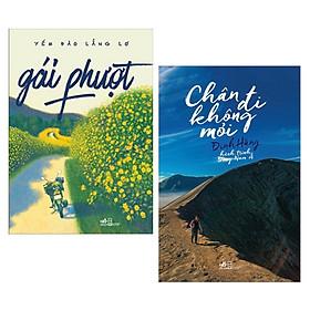Combo Gái Phượt + Chân Đi Không Mỏi - Hành Trình Đông Nam Á (2 cuốn Du Ký Đặc Sắc - Tặng kèm Bookmark Happy Life)