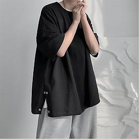 Áo thun XẺ TÀ CÚC Uniex N7 Basic Tee phông trơn nam nữ tay lỡ oversize form rộng Hàn Quốc