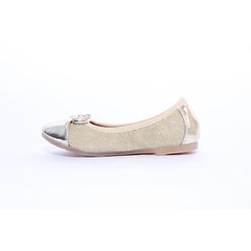 Giày búp bê bé gái Crown UK Basic Ballerina CB3015 - Vàng