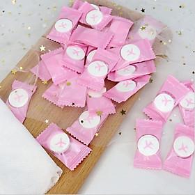 Combo 2 viên giấy nén hình viên kẹo, giấy nén du lịch dùng 1 lần không gây kích ứng da