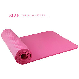 72X24In Non-Slip Yoga Mat Eco-Friendly Fitness Pilates Gymnastics Mat Gift Storage Bag And Carry Sling-1