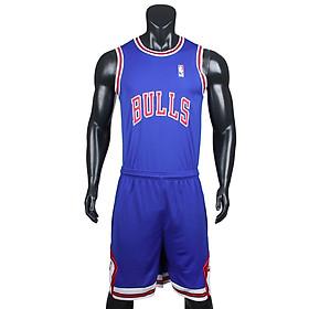 Bộ quần áo bóng rổ Bulls - Xanh Bích