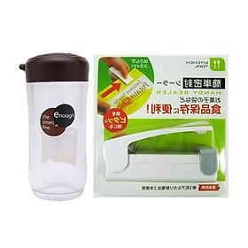 Hình đại diện sản phẩm Combo Dụng cụ hàn miệng túi ny lông + Bình rót xì dầu nước tương, nước mắm 120ml - Nội địa Nhật Bản