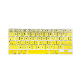 TPU Keyboard Cover Dustproof Keyboard Protective Film Compatible with Apple MacBook Air 13.3 inch A1466/A1369 Yellow