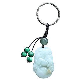 Móc Khóa 12 Con Giáp Cẩm Thạch - Tuổi Ngọ Ngọc Quý Gemstones MK20