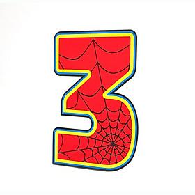 Số Tuổi Trang Trí Sinh Nhật Siêu Nhân Happy Kibu- 3 Tuổi