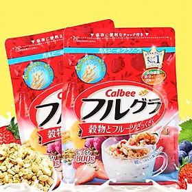 Combo 2 gói Ngũ cốc hoa quả Calbee Furugura Nhật Bản (gói 800g x 2)