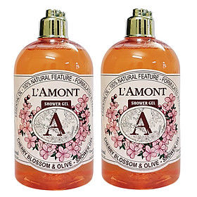 Combo 2 Sữa Tắm Cherry Blossom 500ml - L'amont En Provence