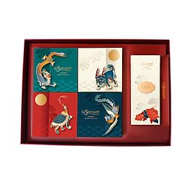 Combo hộp 4 bánh trung thu Savouré CHAY - Thanh Khiết