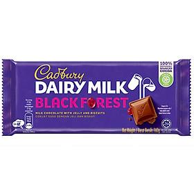 Sôcôla Sữa Cadbury Dairy Milk Black Forest Nhân Kẹo Dẻo Và Bánh Quy 160g