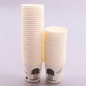 Ly giấy dùng một lần Hàn Quốc + Tặng hồng trà sữa (Cafe) Maccaca 20g