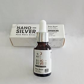 Tinh chất Nano Bạc tinh khiết làm sạch da từ bên trong ngừa mụn kháng viêm,giảm thâm, mờ sẹo ( Chai 15ML) [ TẶNG KÈM VÒI XỊT ]