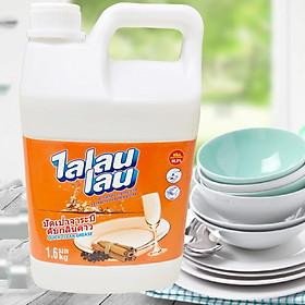 Nước rửa bát chén Thái Lan khử sạch mùi tanh,Đánh Bay vết bẩn -Talaulau Quế 1,6kg .