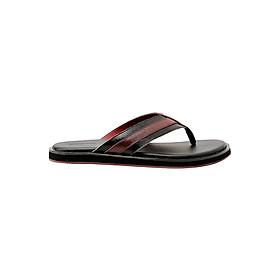 Dép Nam Đế Bằng Da Thật Gosto Gizeh Sandals GDM004000BLK (Đen)