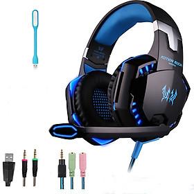 Tai Nghe Chơi Game Chụp Tai (Headphone Gaming) Cho Game Thủ KOTION EACH G2000 + Tặng Led USB Bền Đẹp