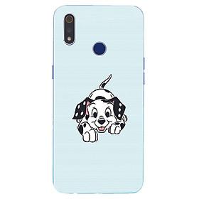 Ốp điện thoại dành cho máy Oppo Realme 3 - Chú chó đốm MS ABMTA001
