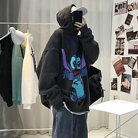 Áo hoodie nam nữ in hình độc đáo 3 màu sinh động, chất nỉ mềm nhẹ