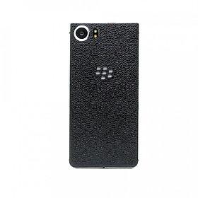 Ốp da dán dành cho Blackberry KeyOne - Da thật nhập khẩu cao cấp - (Đen Vân)