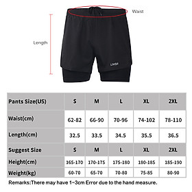 Lixada Men's 2-in-1 Running Shorts Quick Drying Breathable Active Training Exercise Jogging Cycling Shorts with Longer Liner-1