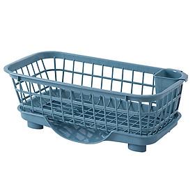 Rổ nhựa đa năng (úp chén bát, đựng rau củ, hoa quả...) có khay hứng thoát nước mặt trước rổ, sạch sẽ, tiện dụng
