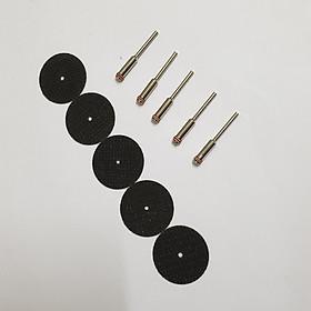 5 đá cắt kim loại mini chân cán 2mm hoặc 3mm (5 đĩa cắt dây dây gai + 5 trục gắn đĩa cắt chân cán 3ly) lưỡi cắt sắt mini