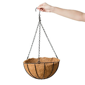 Coconut Shell Hanging Planter Pot - Flower Succulent Plant Pot Hanging Basket - Selected Size