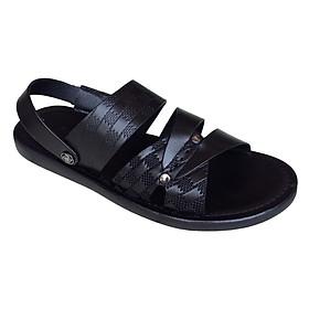 Dép sandal nam màu đen da bò cao cấp Trường Hải SDN01254