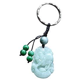 Móc Khóa 12 Con Giáp Cẩm Thạch - Tuổi Hợi Ngọc Quý Gemstones MK24