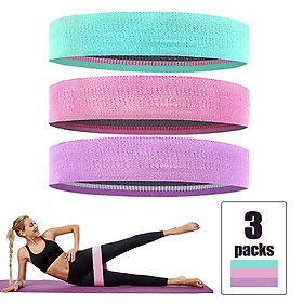 3pcs/set 60-150LB Resistance Bands Set Pull Rope Cotton Elastic Bands for Fitness Gym Equipment Exercise Yoga Workout