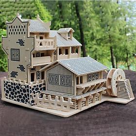 Đồ chơi lắp ráp gỗ 3D Mô hình Nhà cổ G-J075