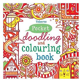 Sách tô màu Usborne Pocket Doodling & Colouring Book: Red Book