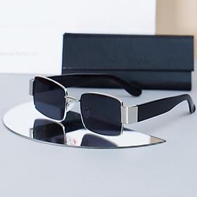 Kính mát dáng chữ nhật Retro mắt kính chống tia UV