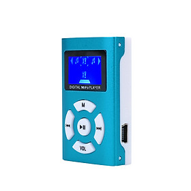 LCD MP3 Player Mini MP3 Player Durable Alloy 5 Color Office Supplies Driving