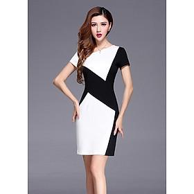 Đầm nữ ngắn tay ôm eo xinh xắn da25th