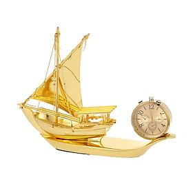 Nước hoa thuyền buồm thuận buồm xuôi gió kiêm đồng hồ trang trí phòng khách, bàn làm việc, taplo ô tô