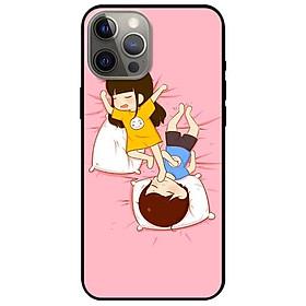 Ốp lưng dành cho Iphone 12 - Iphone 12 Pro - Iphone 12 Pro Max mẫu Couple Ngủ
